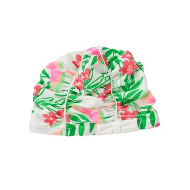 Baby Girl Bamboo Green Print Tropical Swim Cap at JanieandJack
