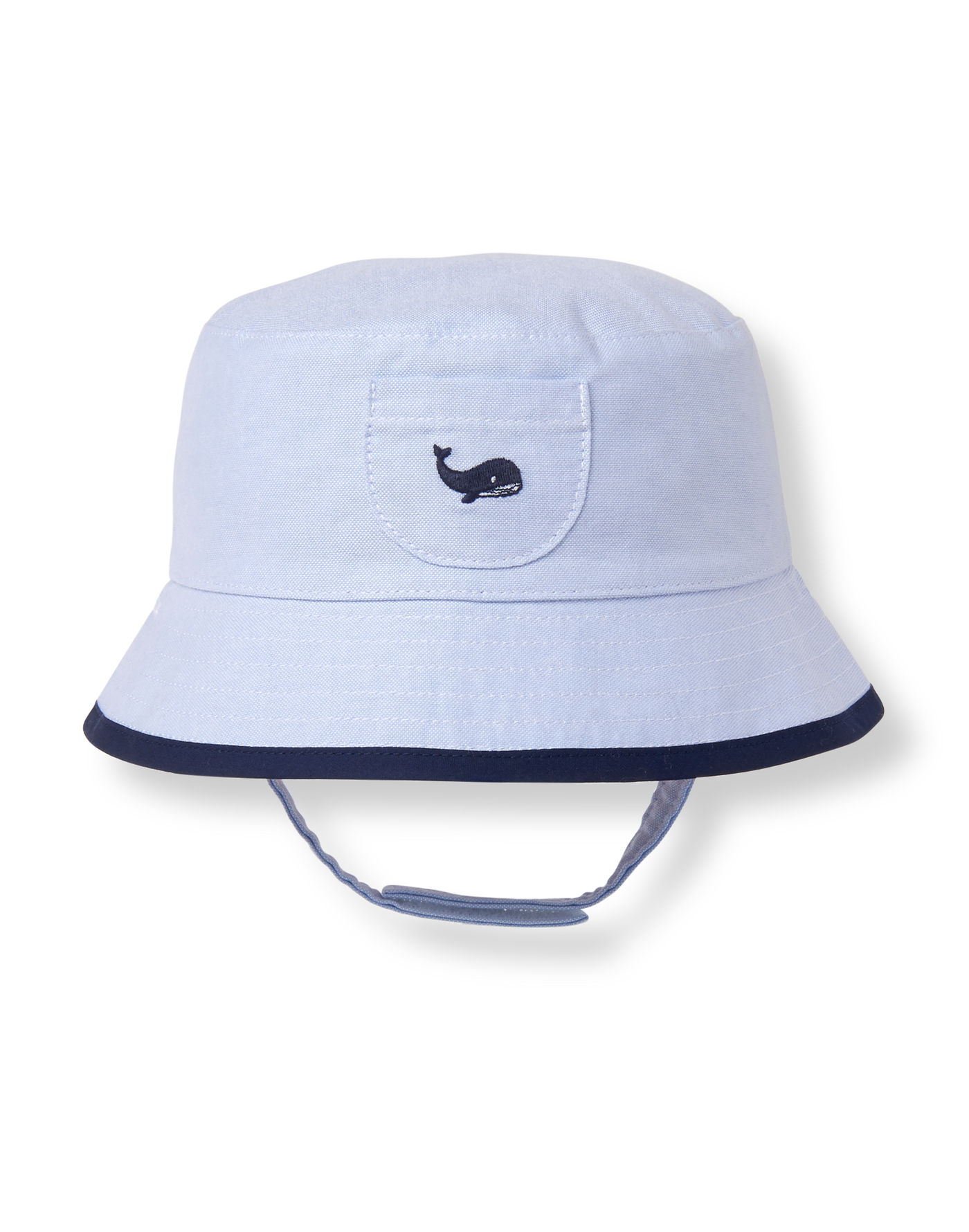 Baby Boy Sunwashed Blue Reversible Bucket Hat at JanieandJack