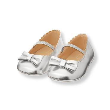 Silver Metallic Crib Shoe at JanieandJack