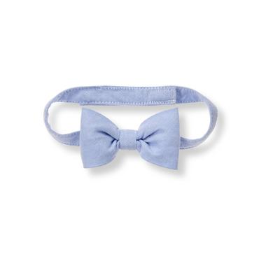 Baby Boy Classic Sky Oxford Bowtie at JanieandJack