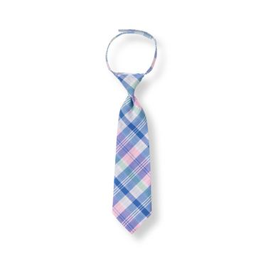 Baby Boy Cobalt Plaid Plaid Madras Tie at JanieandJack