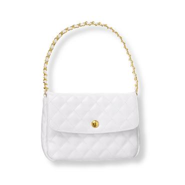 White Quilted Purse at JanieandJack