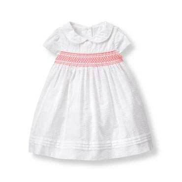 Baby Girl White Smocked Dress at JanieandJack