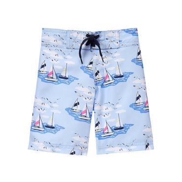 Boys Sky Sailboat Swim Trunk at JanieandJack