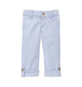 Striped Roll-Cuff Pant