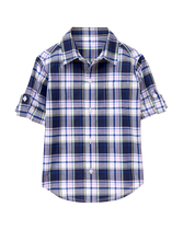 Roll-Cuff Madras Shirt