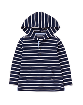 Stripe Hooded Pullover