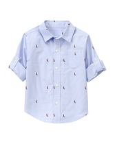 Roll-Cuff Boat Shirt