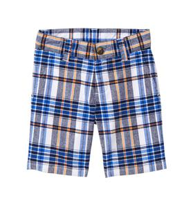 Plaid Poplin Short