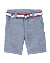 Belted Linen Short