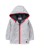 Hooded Striped Anorak