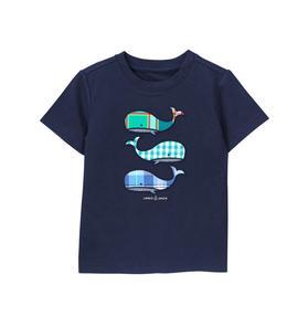 Plaid Whale Tee