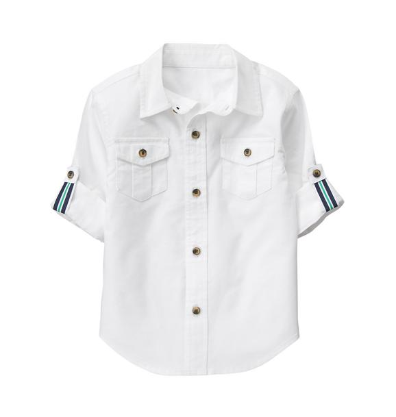 Roll-Cuff Oxford Shirt