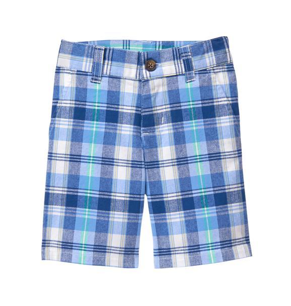 Plaid Cotton Short