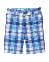 Plaid Cotton Short