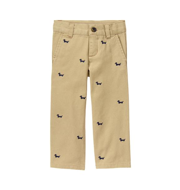 Embroidered Dachshund Pant