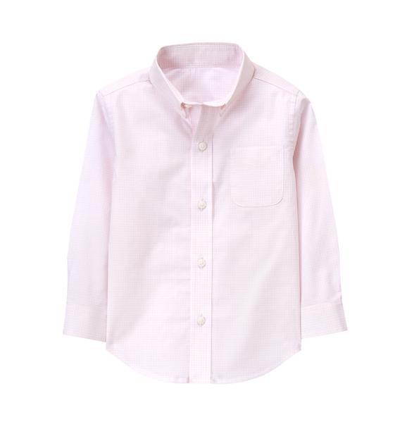 Checked Poplin Dress Shirt