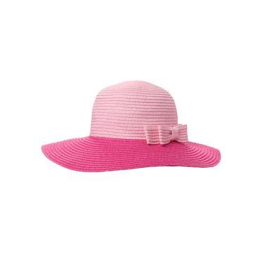 Baby Girl Watermelon Pink Colorblock Straw Hat at JanieandJack