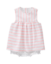 Striped Skirted 1-Piece
