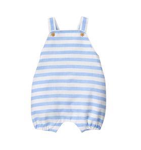 Linen Blend Stripe Overall