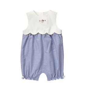 Scalloped Gingham 1-Piece