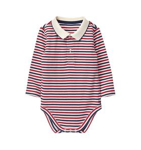 Striped Polo Bodysuit