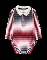 Striped Polo Bodysuit