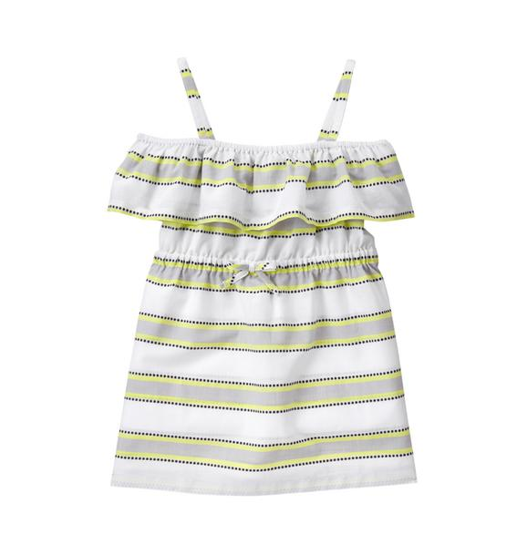 Striped Ruffle Cover-Up