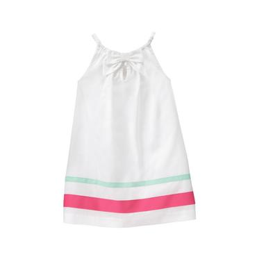 Baby Girl White Striped Cover-Up at JanieandJack