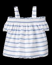 Striped Cold-Shoulder Top