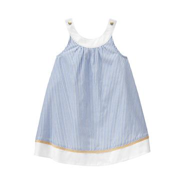 Baby Girl Sky Blue Stripe Striped Cover-Up at JanieandJack