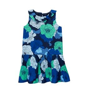 Pleated Bloom Dress