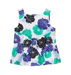 Floral Bow Peplum Top