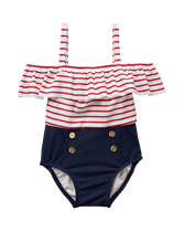 Striped Nautical Swimsuit