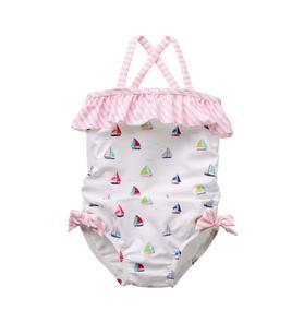 Sailboat Print Swimsuit