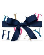 Blue Birthday Gift Card