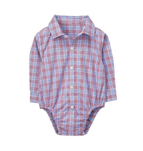 Plaid Poplin Bodysuit