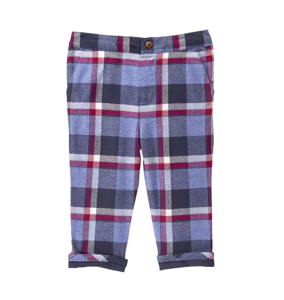 Twill Plaid Pant