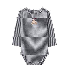 Striped Teddy Bodysuit