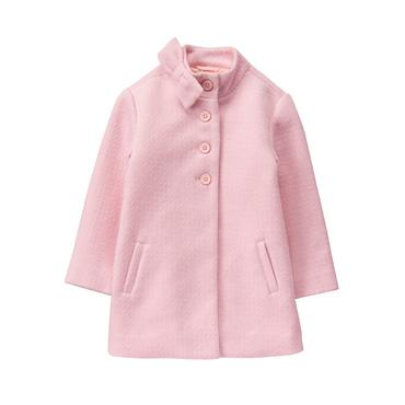 Carnation Pink Bouclé Coat at JanieandJack