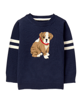 Knit Bulldog Sweater