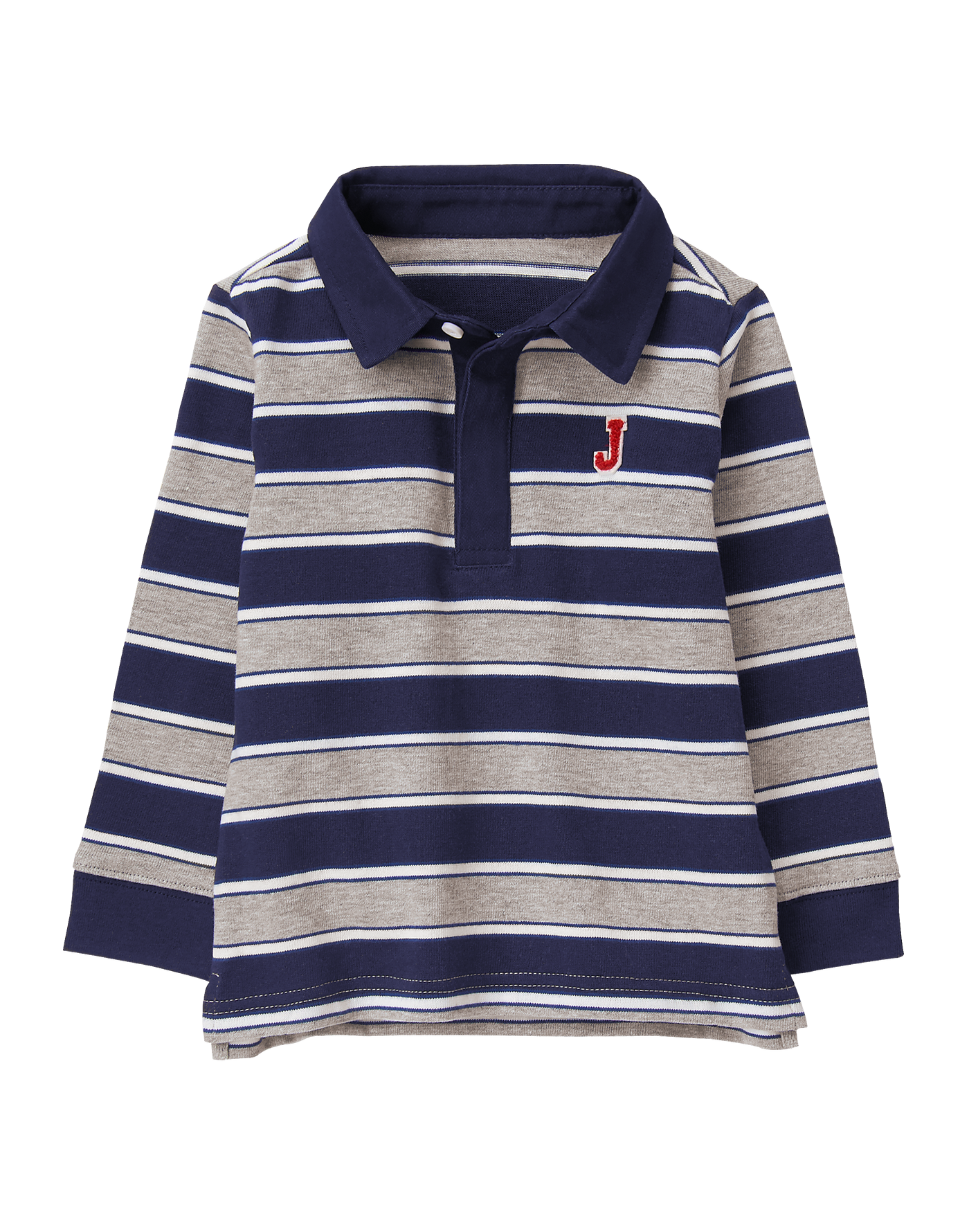 Striped Patch Rugby Shirt