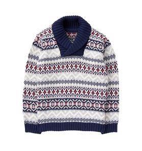 Fair Isle Shawl Sweater