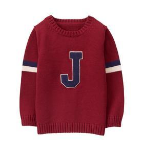 Varsity J Patch Sweater