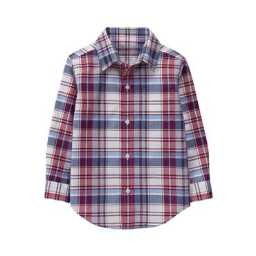 Baby Boy Currant Plaid Plaid Madras Shirt at JanieandJack