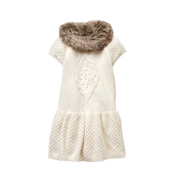 Faux Fur Sweater Dress