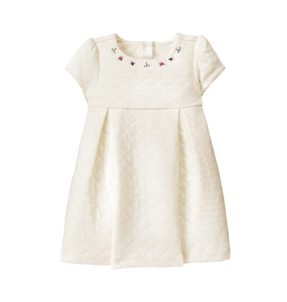 Embroidered Quilted Dress