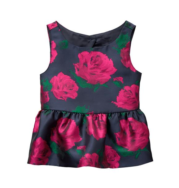 Rose Peplum Top
