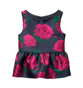 Rose Peplum Top