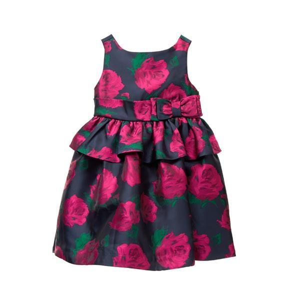 Rose Peplum Dress